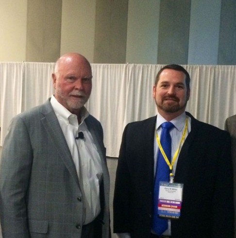 ....now to get him interested in the Human Exposome Project (Dr. Gary Miller with Dr. Craig Venter)